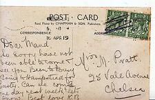 Genealogy Postcard - Family History - Pratt - Vale Avenue - Chelsea 8342