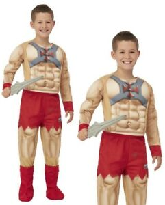 Kids He-Man Costume Boys Superhero Fancy Dress Outfit Masters Of The Universe