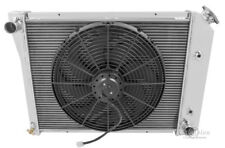 """4 Row RS Champion Radiator 20"""" Core, 16"""" Fan for 1968-1971 Chevy Chevelle L6 Eng"""
