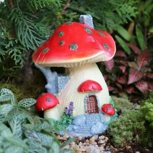 Miniature Mushroom For Pretend Play Vintage Metal Mushroom Art Projects Fantasy Play