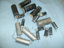 17 lot large capacitors caps , Aerovox , mixed ,etc from radio shop /l4