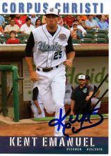 Kent Emanuel 2015 Corpus Christi Hooks Signed Card