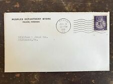 1958 Cover: Peoples Dept. Store Pound Virginia to Williams & Reed Richmond Va