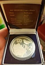 1995 plata de prueba de la FAO Sudáfrica 2 Rand Moneda Org. box&cert. de autenticidad