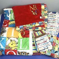 Dr Seuss Crib Bedding Set Comforter Sheet Valance Blanket Cat in the Hat Nursery