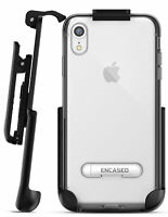 iPhone XR Belt Clip Clear Holster Slim Case / Cover with Kickstand Reveal Silver