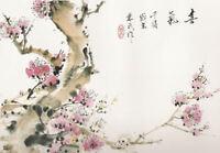 Framed Print - Japanese Artwork Cherry Blossoms (Asian Oriental Picture Art)