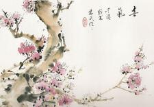 Obras de arte enmarcado impresión flores de cerezo japonés (imagen de Asia Oriental Arte)