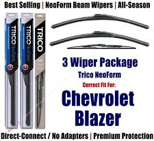 3pk Wipers Front & Rear - NeoForm - fit 1995-2005 Chevrolet Blazer 16200x2/30130