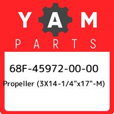 "68F-45972-00-00 Yamaha Propeller (3x14-1/4""x17""-m) 68F459720000, New G"