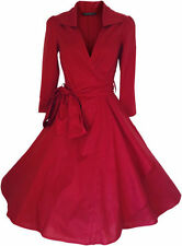 Robes rouge coton pour femme taille 38