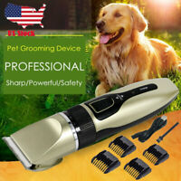 Electric Pet Professional Dog Grooming Clipper Kit Thick Fur Hair Trimmer Shaver
