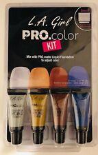 LA Girl Pro Color Kit Matte Liquid Foundation Mixing Pigment & Palette & Stick