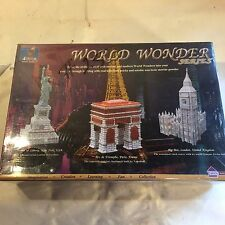 NIP World Wonders Statue of Liberty Model Kit  Brick & Brain Kiln Fired Mortar