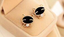 Earring Boho Festival Party Boutique Uk Gold Black Bow tie Cat Luxury Fashion