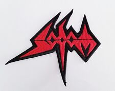 SODOM (shaped red logo ) EMBROIDERED  PATCH