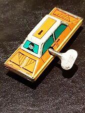 1960s Working Tin Toy Car Wind Up With Key- USSR Cold War Era 100% Original