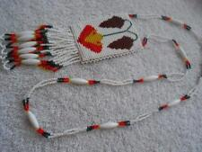 Native American Style Beaded Fringe Necklace Glass Seed Beads