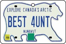 NUNAVUT - BEST AUNT LICENSE PLATE CAR AIR FRESHENER
