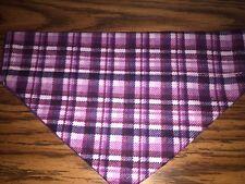 Purple Plaid  Over The Collar Dog Bandana Plaid Collection