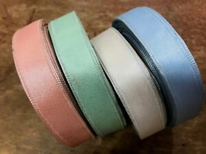 "Vintage Acetate 1/2"" Satin wire Ribbon 1yd Made in France"
