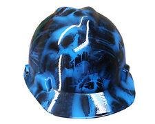 Toxic Skull Blue MSA V-GUARD Cap Hard Hat