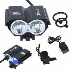 SKYRAY SolarStorm 2 x CREE XML U2 LED Bike Bicycle HeadLamp Light +4x 18650 K