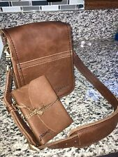 Indiana Jones Leather Satchel Cross Body Messenger Bag & Bound Journal Unused