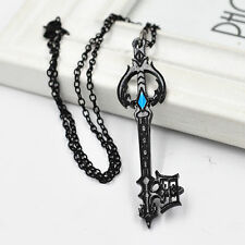 Kingdom Hearts Sora Black Metal Oblivion Keyblade Pendant Necklace Cosplay Gifts