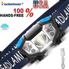 Body Motion Sensor 50000LM LED Headlamp Rechargeable Headlight Head Light Lamp