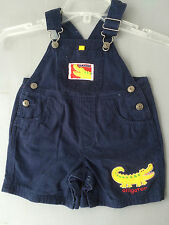 Infant Simply Basic Navy Gator Overalls 12 Months (Fc)