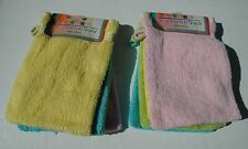Lot de 6 gants de Toilette 100% Coton 400grs
