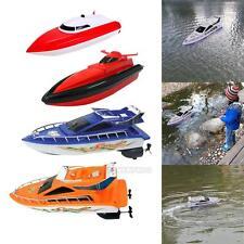 Kinder-Fernbedienung RC Super-Mini-Schnellboot High Performance Boot Spielzeug