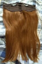 THICK 100% Remy Human Hair Hidden Crown Halos Invisible Wire In Weft Extensions
