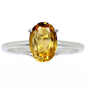 Citrine - Brazil 925 Sterling Silver Ring Jewelry s.7.5 BR98382