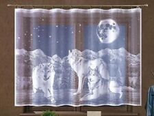 CHILDREN NET CURTAIN -WOLF ANIMALS DESIGN