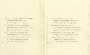 Rev Samuel Simpson, 3 Original Handwritten Manuscript Poems, 1871