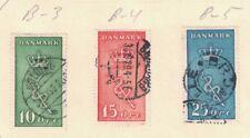 Denmark B3 - B5 - Semi Postals. Used. Set Of 3  #02 DENB3s3