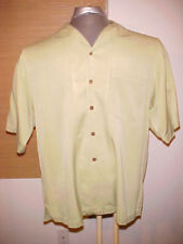 Tommy Bahama Men's pear 70 Silk 30 cotton Hawaiian Shirt Size Extra Large XL