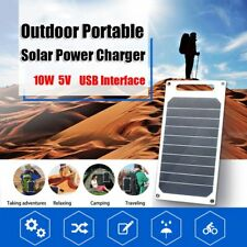 Solar Charging Charger Panel USB For Smart Mobile Phone iPhone Samsung 5V 10W
