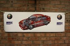 Alfa romeo 155  wtcc large pvc  WORK SHOP BANNER garage man cave SHOW