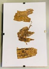 RARE! Egyptian Papyrus Page Fragments With Demotic Inscription Written In Ink