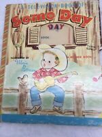 VINTAGE BONNIE BOOK A TELEVISION BOOK OF SOME DAY  NO WHEEL WRITING ON EACH PAGE