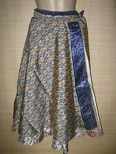 "New VINTAGE Silk sari wrap SKIRT / DRESS FREESIZE (8-16 best) 30"" Long (code62)"