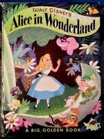 Walt Disney's Alice In Wonderland 1951 First Edition A Big Golden Book E100100