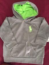 Polo Ralph Lauren Baby Boy 2/2T Gray Hoodie NWT Free Shipping
