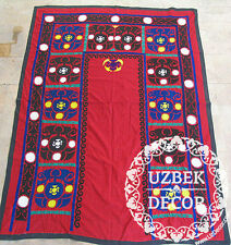 UZBEK SILK HAND EMBROIDERED SUZANI JOYPYSH # 8470
