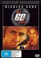 GONE IN 60 SECONDS - BRAND NEW & SEALED R4 DVD (NICHOLAS CAGE, ANGELINA JOLIE)