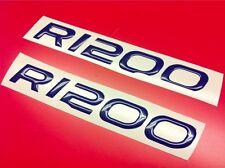 2 Adhésifs Stickers Moto BMW R 1200 GS 3D Résine Bleu Style Réservoir