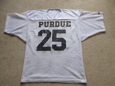 VINTAGE CHAMPION game worn Purdue calderai NCAA FOOTBALL JERSEY # 25 Uomo XL